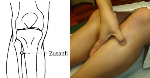 Zu San Li : Voici ce qui se passe quand vous massez ce point sur votre jambe