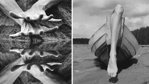 Il utilise son corps pour créer des photos où il ne fait qu'un avec les paysages