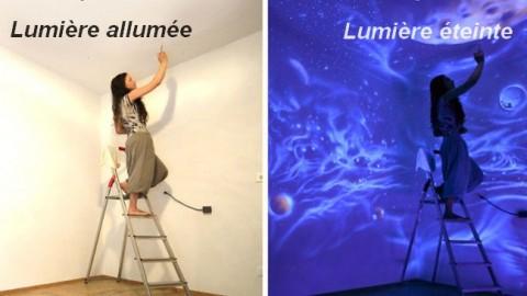 Ces peintures murales transforment les chambres sombres en des mondes de rêves.