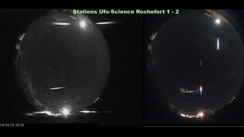 Double détection météore Rochefort 29 avril 2016