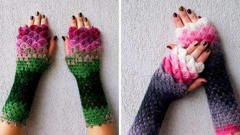 Ces gants de dragon réalisés au crochet vous protègeront du froid en hiver