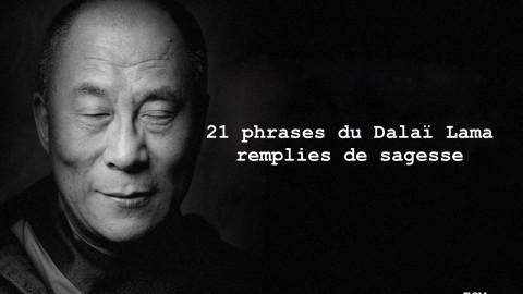 21 phrases du Dalaï Lama remplies de sagesse