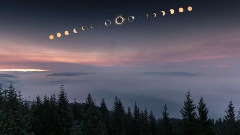 Les 30 meilleures photographies de l'éclipse solaire 2017