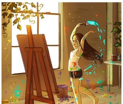18superbes illustrations que toutes les filles qui vivent seules pourront comprendre