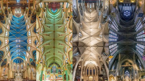 Photographies panoramiques verticales des églises de New York par Richard Silver