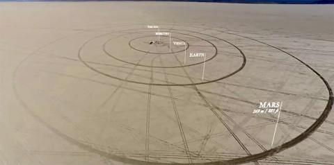 Voici le premier timelapse du système solaire réalisé avec une bille pour représenter la Terre