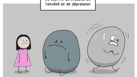 Cette BD illustre parfaitement la lutte contre la dépression et l'anxiété