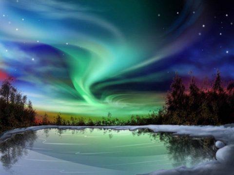 Photographie d'un loup géant qui est apparu dans le ciel